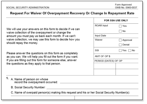 To Ask For A Waiver, Fill Out And File Form SSA 632 BK With Social  Security. Use This Form If You Want To Ask Social Security To